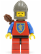 Minifig No: cas119a  Name: Crusader Lion - Red Legs with Black Hips, Dark Gray Chin-Guard, Quiver