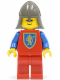 Minifig No: cas121  Name: Crusader Lion - Red Legs, Dark Gray Neck-Protector