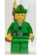Minifig No: cas123  Name: Forestman - Pouch, Green Hat, Yellow Feather