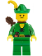 Minifig No: cas123a  Name: Forestman - Pouch, Green Hat, Yellow Feather, Quiver