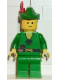 Minifig No: cas125  Name: Forestman - Pouch, Green Hat, Red Feather