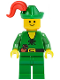 Minifig No: cas126  Name: Forestman - Pouch, Green Hat, Red Plume