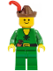 Minifig No: cas128  Name: Forestman - Pouch, Brown Hat, Red Feather
