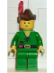 Minifig No: cas129  Name: Forestman - Pouch, Brown Hat, Red 3-Feather Plume