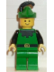 Minifig No: cas131  Name: Forestman - Black, Green Hat, Black Feather