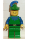 Minifig No: cas132  Name: Forestman - Blue, Green Hat, Blue Feather