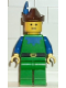 Minifig No: cas134  Name: Forestman - Blue, Brown Hat, Blue Feather