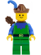 Minifig No: cas134a  Name: Forestman - Blue, Brown Hat, Blue Feather, Quiver (Set 6066)