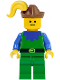 Minifig No: cas135  Name: Forestman - Blue, Brown Hat, Yellow Plume