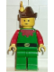 Minifig No: cas140  Name: Forestman - Red, Brown Hat, Yellow Feather