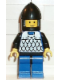 Minifig No: cas141  Name: Scale Mail - Blue, Blue Legs with Black Hips, Black Chin-Guard