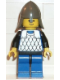 Minifig No: cas142  Name: Scale Mail - Blue, Blue Legs with Black Hips, Dark Gray Neck-Protector