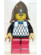 Minifig No: cas144  Name: Scale Mail - Blue, Red Legs with Black Hips, Dark Gray Neck-Protector