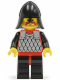 Minifig No: cas149  Name: Scale Mail - Red with Black Arms, Black Legs with Red Hips, Black Neck-Protector
