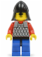 Minifig No: cas154  Name: Scale Mail - Red with Red Arms, Blue Legs with Black Hips, Black Neck-Protector