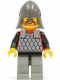 Minifig No: cas159  Name: Scale Mail - Red with Black Arms, Light Gray Legs with Black Hips, Dark Gray Neck-Protector