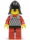 Minifig No: cas162  Name: Scale Mail - Red with Red Arms, Red Legs with Black Hips, Black Neck-Protector