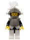 Minifig No: cas167  Name: Breastplate - Armor over Blue, Dark Gray Helmet and Visor, White Dragon Plumes (6086)
