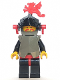 Minifig No: cas168  Name: Breastplate - Armor over Black, Dark Gray Helmet, Black Visor, Red Dragon Plumes, (6009)