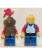 Minifig No: cas169  Name: Breastplate - Armor over Blue, Dark Gray Helmet and Visor, Red 3-Feather Plume (6042)