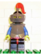 Minifig No: cas170  Name: Breastplate - Armor over Red, Black Helmet, Dark Gray Visor, Red Plume, (6081)