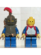 Minifig No: cas171  Name: Breastplate - Armor over Red, Dark Gray Helmet and Visor, Red Feather (6081)