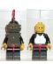 Minifig No: cas172  Name: Breastplate - Armor over Black, Black Helmet, Dark Gray Visor, Red 3-Feather Plume (6034)