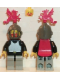 Minifig No: cas174  Name: Breastplate - Black, Light Gray Legs with Black Hips, Dark Gray Grille Helmet, Red Plastic Cape