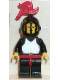 Minifig No: cas175  Name: Breastplate - Black, Black Legs with Red Hips, Black Grille Helmet, Red Plume, Red Plastic Cape