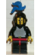 Minifig No: cas176  Name: Breastplate - Black, Black Legs with Red Hips, Black Grille Helmet, Blue Plume, Black Plastic Cape