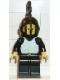 Minifig No: cas177  Name: Breastplate - Black, Black Legs, Black Grille Helmet, Black Plume