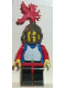 Minifig No: cas179  Name: Breastplate - Blue with Red Arms, Black Legs with Red Hips, Dark Gray Grille Helmet, Red Plume