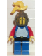 Minifig No: cas180  Name: Breastplate - Blue with Red Arms, Blue Legs with Black Hips, Dark Gray Grille Helmet, Yellow Plume