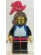 Minifig No: cas181  Name: Breastplate - Blue with Black Arms, Black Legs with Red Hips, Dark Gray Grille Helmet, Red Plume, Blue Plastic Cape