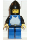 Minifig No: cas187  Name: Breastplate - Blue with Black Arms, Blue Legs with Black Hips, Black Chin-Guard