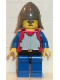 Minifig No: cas199  Name: Breastplate - Red with Blue Arms, Blue Legs with Black Hips, Dark Gray Neck-Protector
