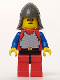Minifig No: cas200  Name: Breastplate - Red with Blue Arms, Red Legs with Black Hips, Dark Gray Neck-Protector