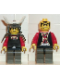Minifig No: cas209  Name: Ninja - Shogun, Red Warlord with Armor