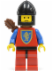 Minifig No: cas222  Name: Crusader Lion - Red Legs with Black Hips, Black Chin-Guard, Quiver