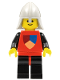 Minifig No: cas230  Name: Classic - Knights Tournament Knight Red, Black Legs with Red Hips