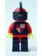 Minifig No: cas232  Name: Classic - Knights Tournament Knight Black, Black Legs with Red Hips, Red Helmet, Black Visor