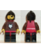 Minifig No: cas234  Name: Wolf People - Wolfpack 2 with Brown Arms, Black Hood, Red Plastic Cape
