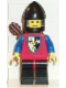 Minifig No: cas237  Name: Crusader Axe - Black Legs with Red Hips, Black Chin-Guard, Quiver
