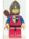 Minifig No: cas238  Name: Crusader Axe - Red Legs with Black Hips, Dark Gray Chin-Guard, Quiver
