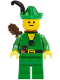 Minifig No: cas240a  Name: Forestman - Pouch, Green Hat, Black Feather, Quiver (Set 1974)