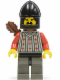 Minifig No: cas244  Name: Fright Knights - Knight 2, Black Chin-Guard, Quiver