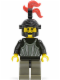 Minifig No: cas250  Name: Fright Knights - Knight 1, Black Dragon Helmet, Red 3-Feather Plume