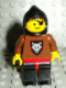 Minifig No: cas255  Name: Wolf People - Wolfpack 2 with Brown Arms, Black Hood, no Cape