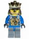 Minifig No: cas258a  Name: Knights Kingdom II - King Mathias with Blue Arms