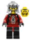 Minifig No: cas273  Name: Knights Kingdom II - Shadow Knight, Speckle Black-Silver Helmet